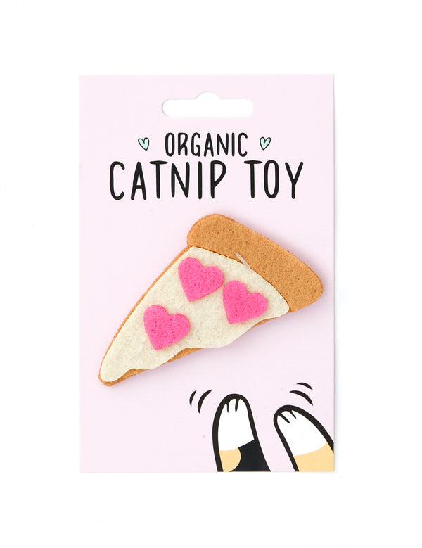 Organic Catnip Pizza Cat Toy | Pink