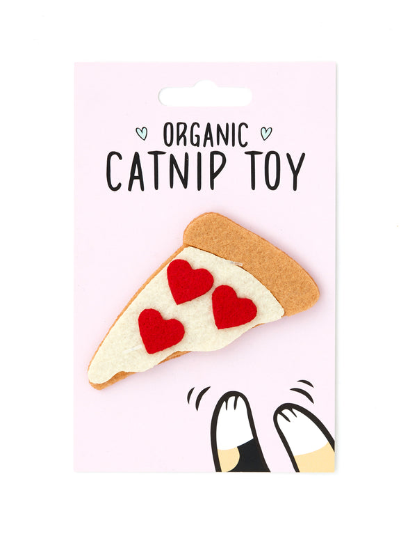 Organic Catnip Pizza Cat Toy | Red