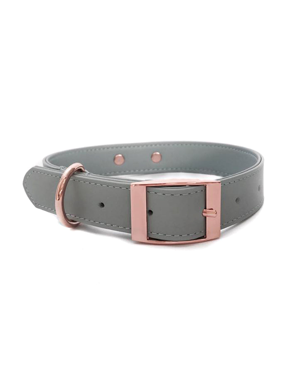 Ice Blue Leather Collar | Ice Blue