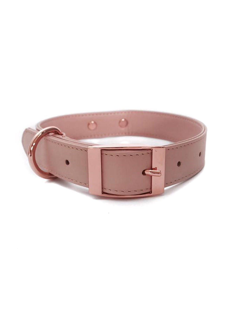 Rose Leather Collar | Rose Blush
