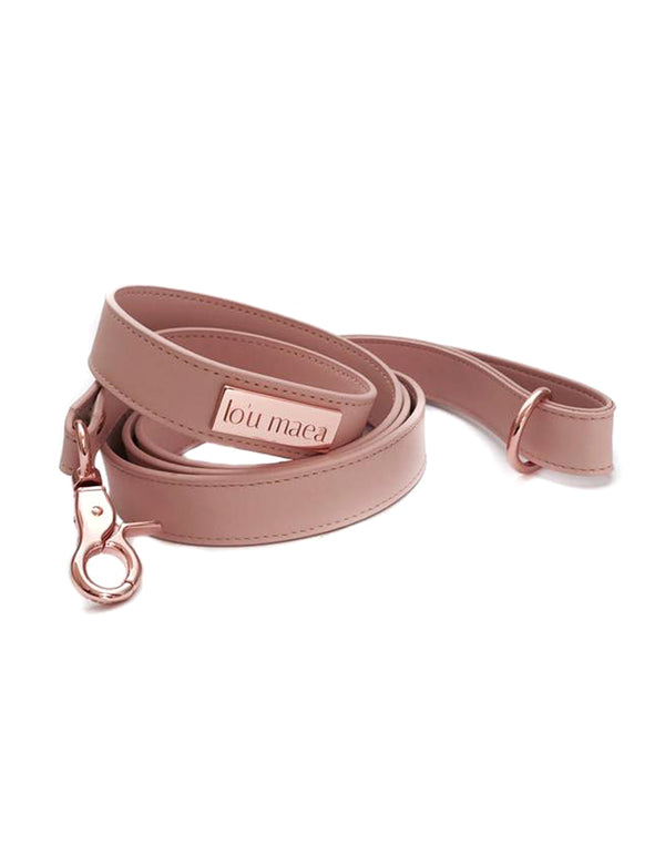 Rose Leather Leash | Rose Blush
