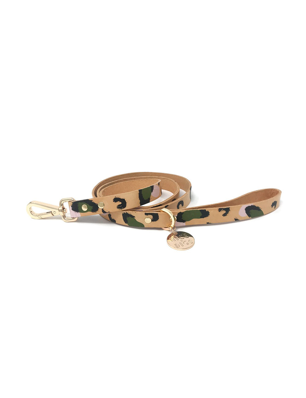 Animal Leather Leash | Green