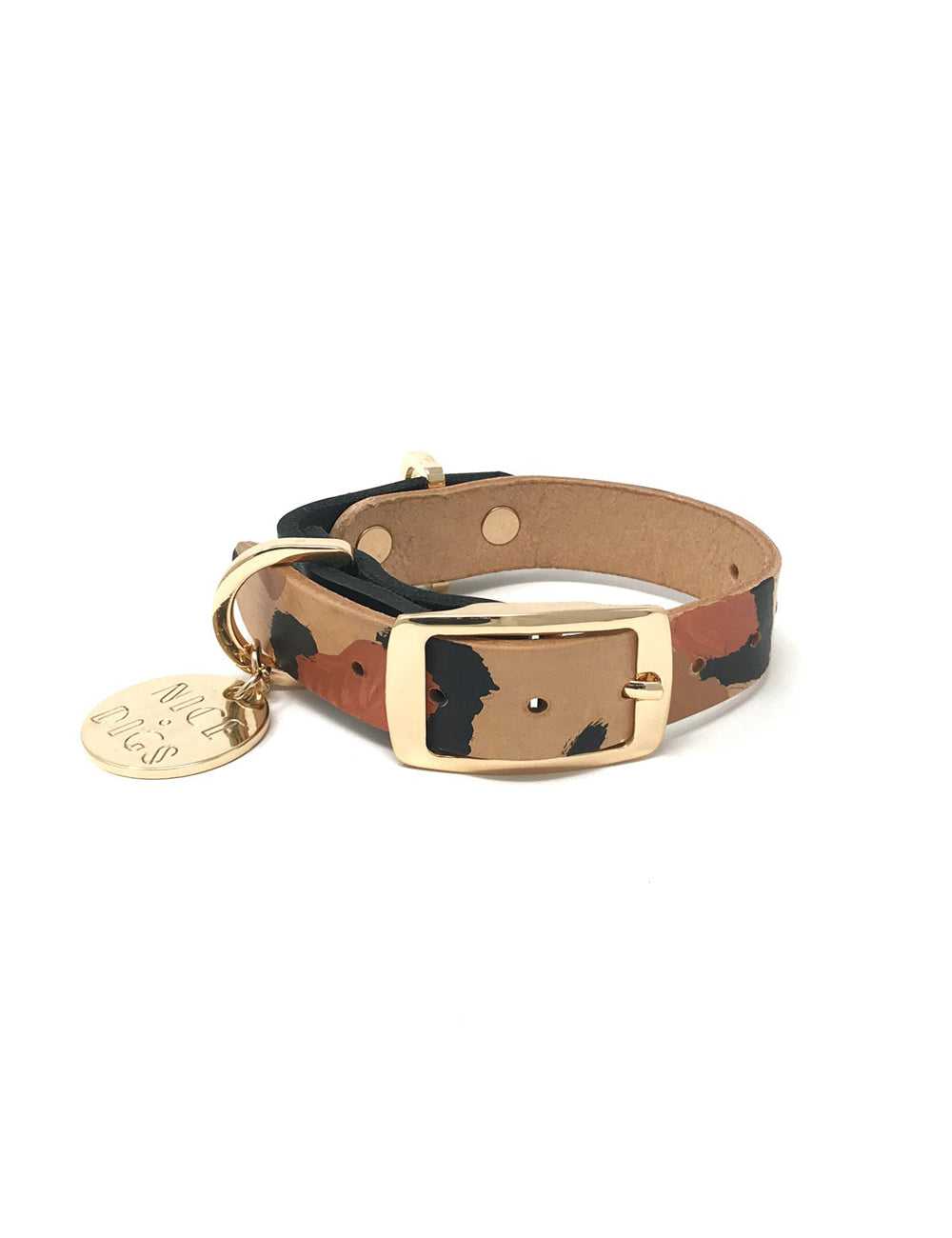 Two Tone Dog Collar | Tan Animal