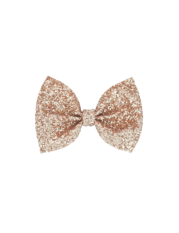 Glitter Bow Tie | Rose Gold