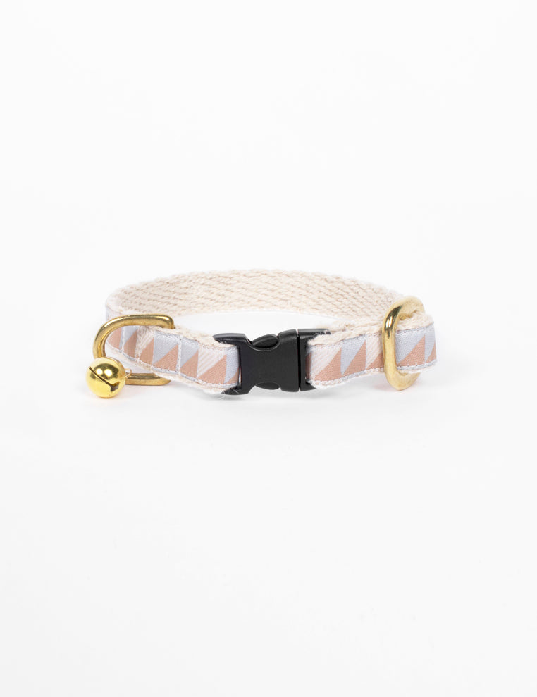 Nice Grill Cat Collar | Camel & Ice Blue