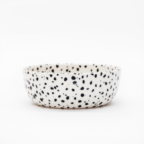 Franca Speckled Dog Bowl