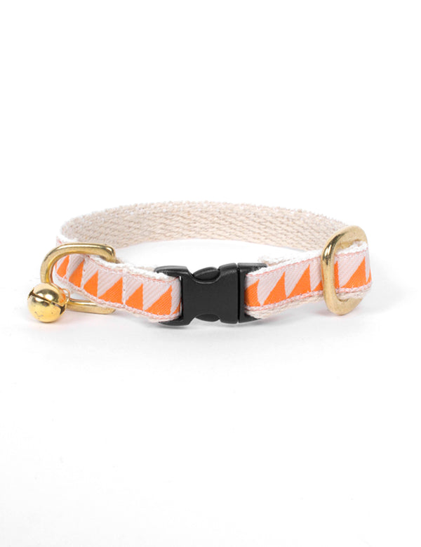 Nice Grill Cat Collar | Tangerine & Cream