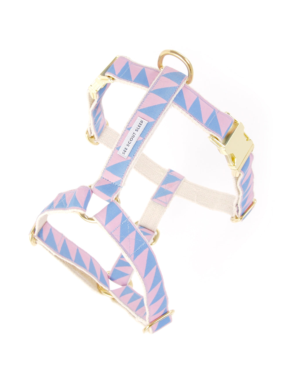 Nice Grill Harness | Blush & Lake Blue