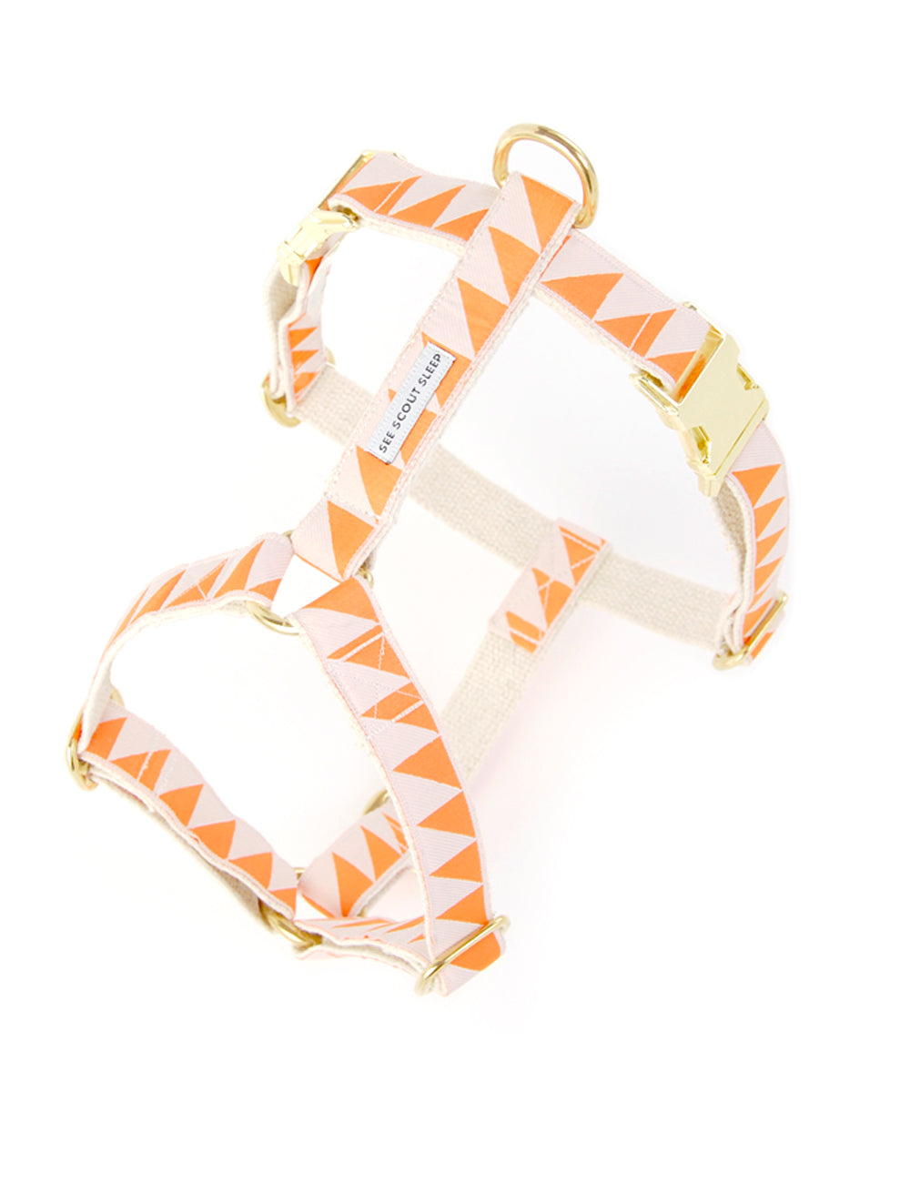 Nice Grill Harness | Tangerine & Cream