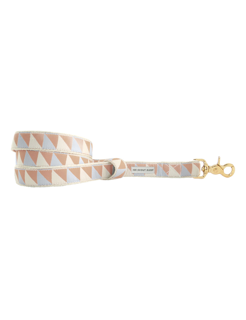 Nice Grill Leash | Ice Blue, Camel & Ivory