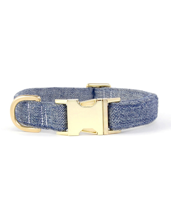 Billie Jean Reverse Denim Collar