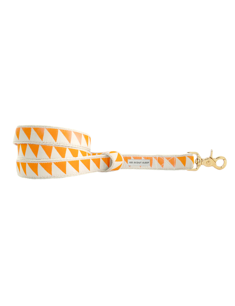Nice Grill Leash | Tangerine & Cream
