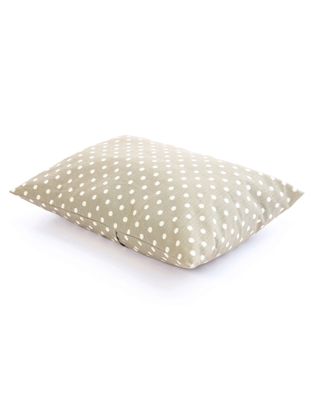 Grey Ikat Dots Dog Bed
