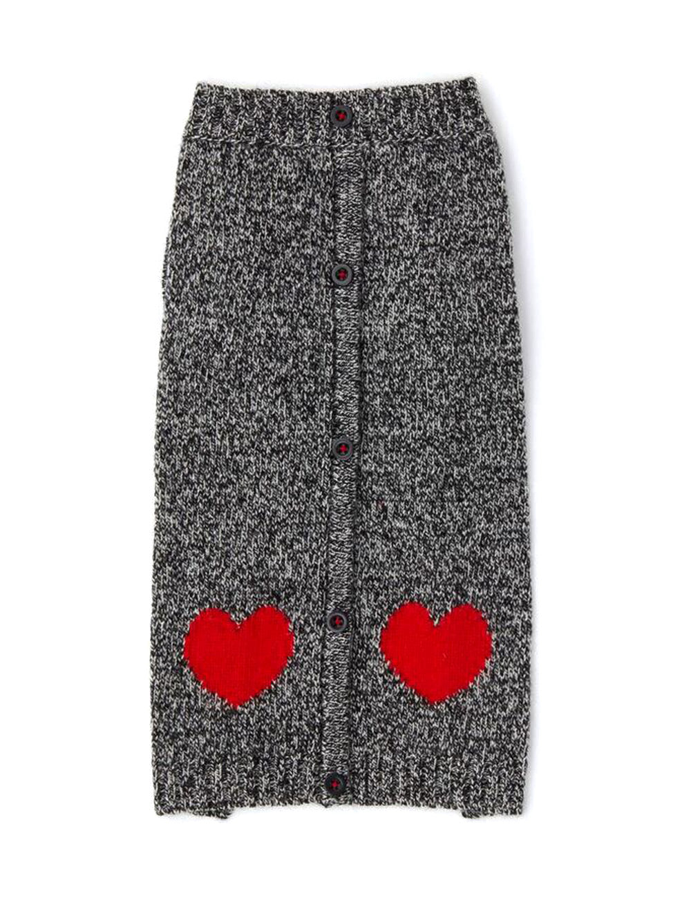 Heart Cardigan | Grey & Red