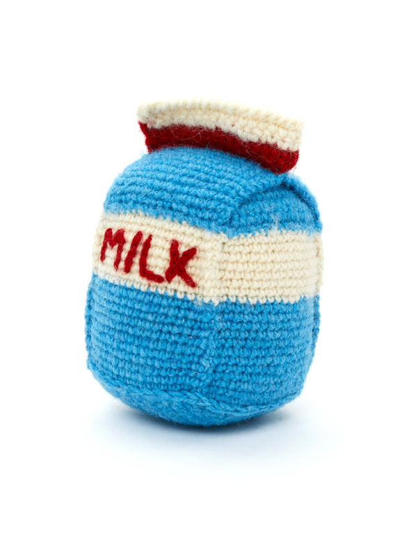 Milk Carton Dog Toy | Multi