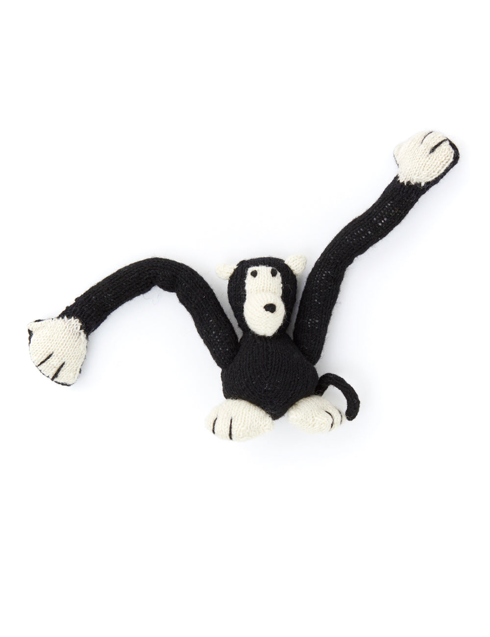 Monkey Dog Toy | Black & White