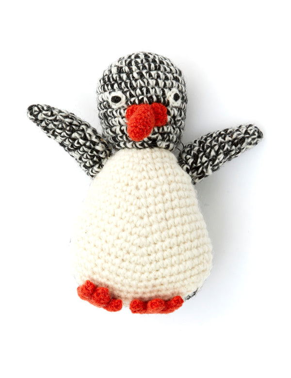 Penguin Dog Toy | Black & White