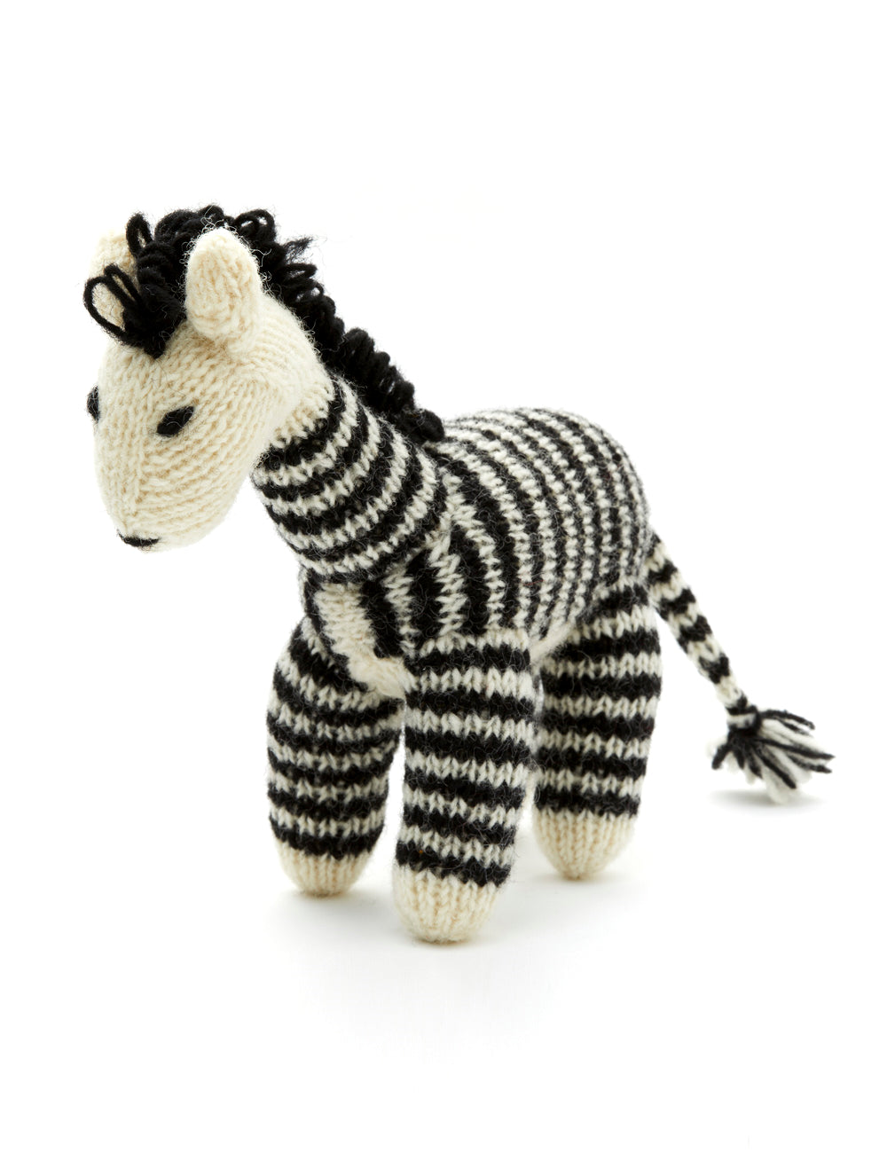 Zebra Dog Toy | Black & White