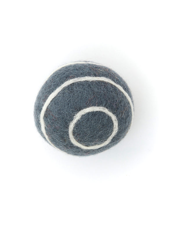 Striped Boiled Wool Balls | Grey & White
