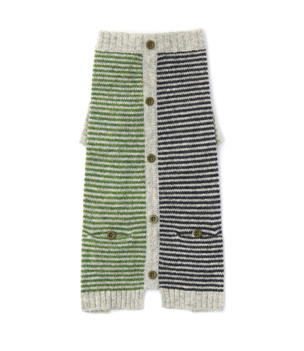 Stripe Cardigan | Green & Black