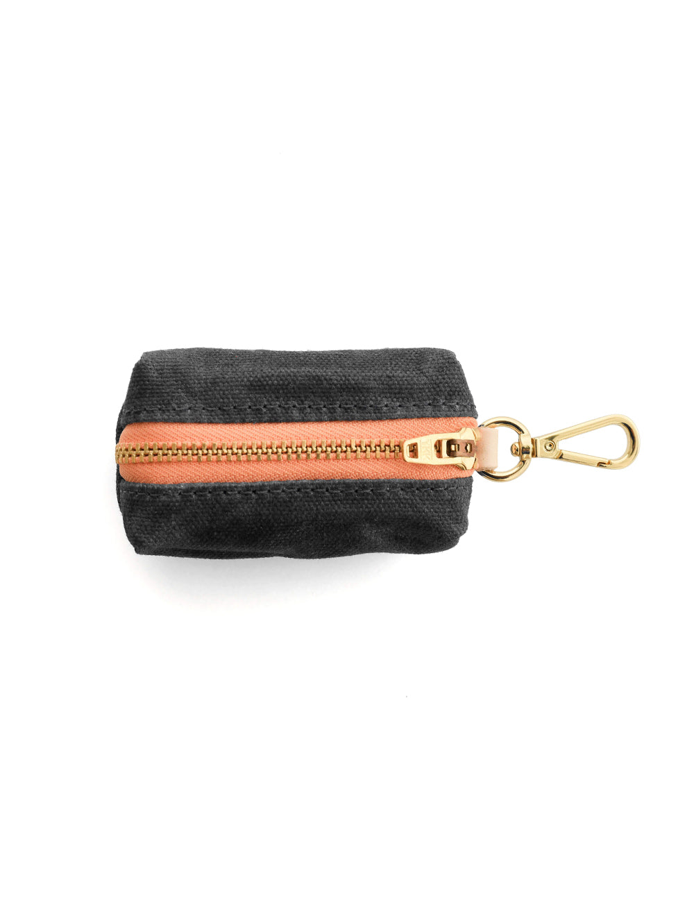Onyx Waxed Canvas Leash Bag