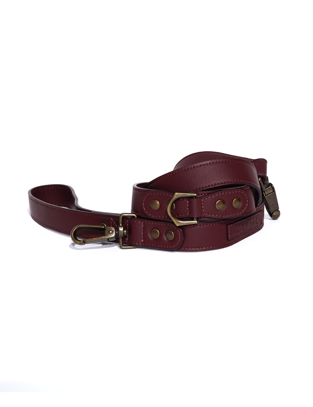 Latte Leather Leash | Oxblood