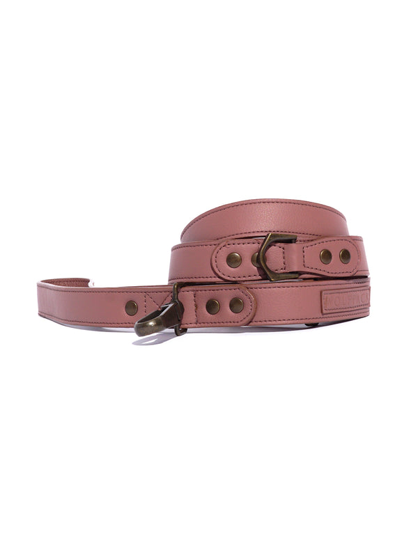 Latte Leather Leash | Rose