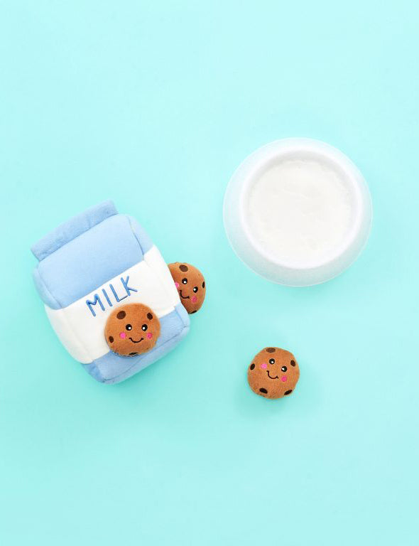 Milk and Cookies Dog Toy
