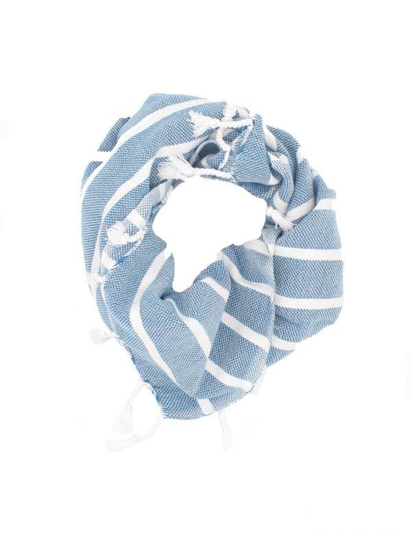 Twofer Towel | Light Blue & White