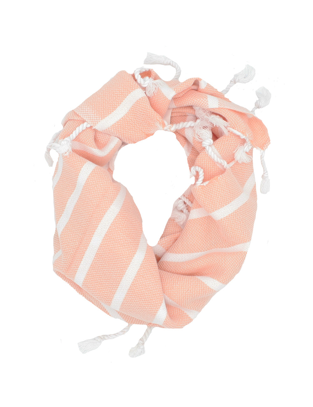 Twofer Towel | Peach & White