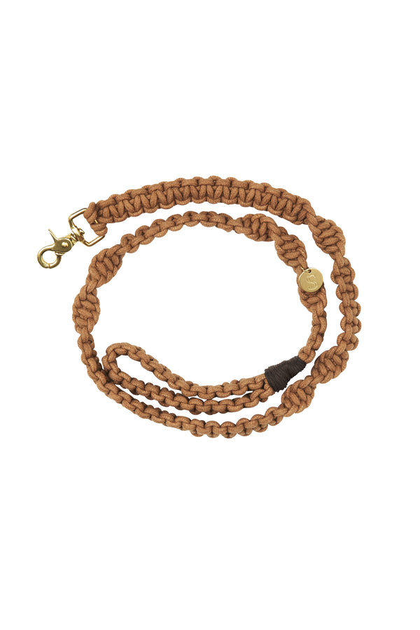 Macramé Dog Lead | Biscuit