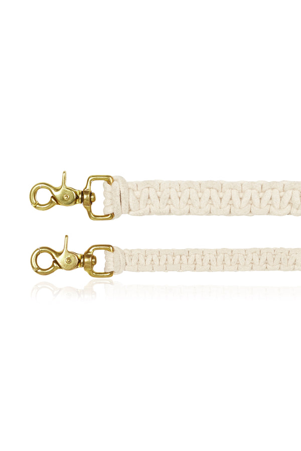 Macramé Dog Lead | Natural