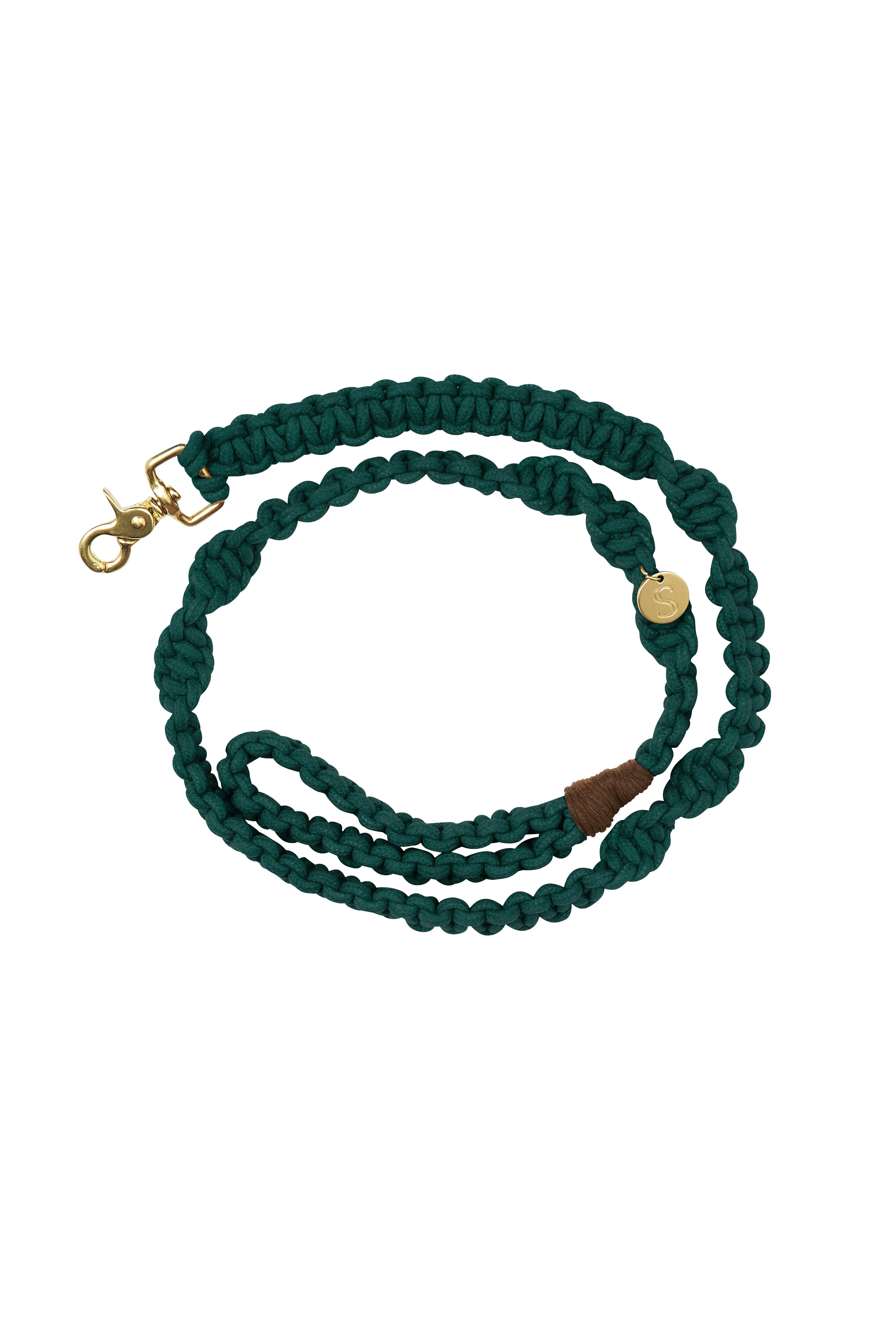 Macramé Dog Lead | Teal