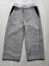 Monochrome Wool Fancy Pants