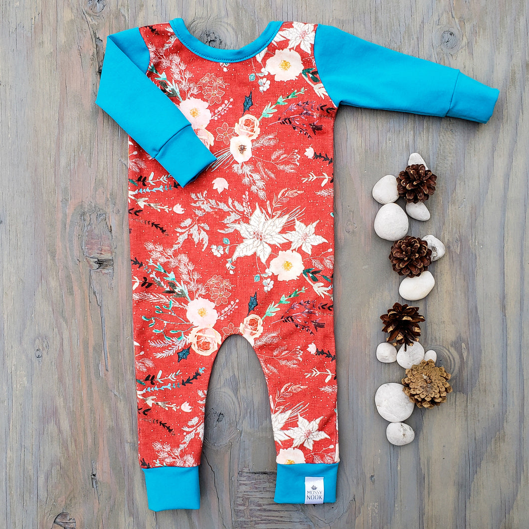 Winter Floral Romper