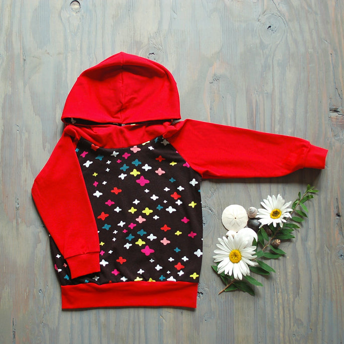 Pluses Hoodie With Red