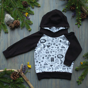 Wild Child Hoodie with Black