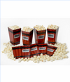 Disposable Popcorn-Open Tubs: 8 Packs