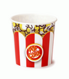 Red/White Classic Striped Popcorn Tubs