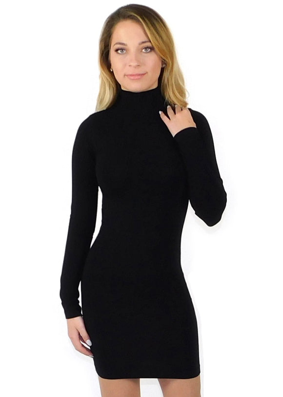 Mock Turtle Neck Dress