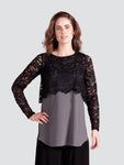 Black Lace Shorty Top by Sympli