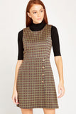 Houndstooth Wrap Skirt Dress by Apricot