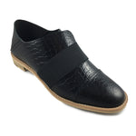 Exotic Banded Casual - Black- by All Black Footwear