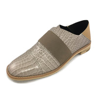 Exotic Banded Casual - Beige- by All Black Footwear