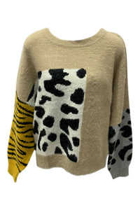 Multi Animal Print Sweater