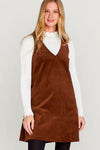 Corduroy A-Line Shift Dress
