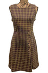 Houndstooth Wrap Skirt Dress 386907 by Apricot