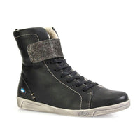 Amos Wool Lined Hi Tops in Black by Cloud Footwear