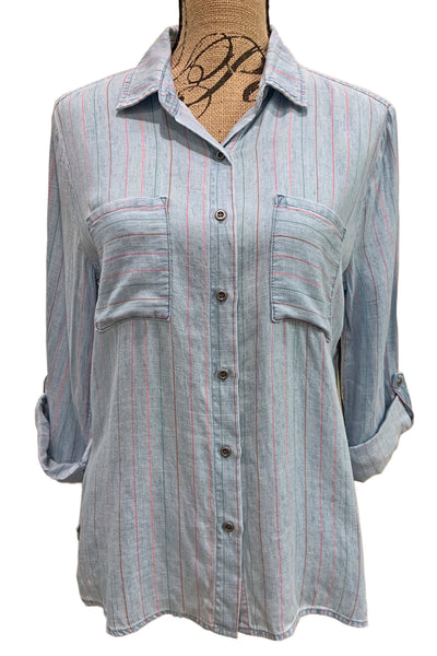 Striped Denim Shirt BT2226T by Billie T
