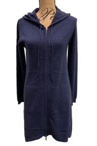 Long Hooded Cashmere Sweater by Pure Amici